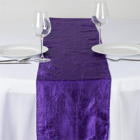 Purple Taffeta Crinkle Table Runner