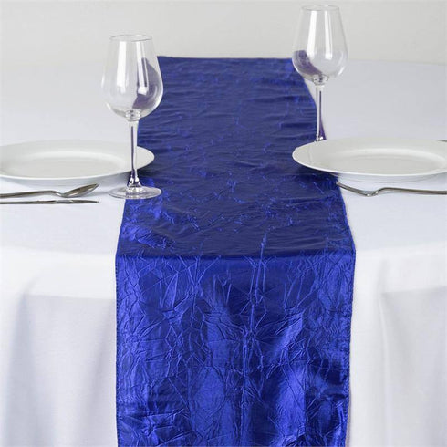 Royal Blue Taffeta Crinkle Table Runner