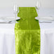 Sage Green Crinkle Crushed Taffeta Table Runner