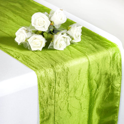Sage Green Taffeta Crinkle Table Runner