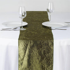 Taffeta Crinkle Table Runner - Moss / Willow