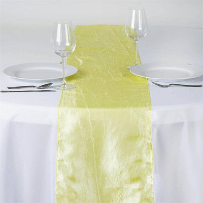 Yellow Taffeta Crinkle Table Runner