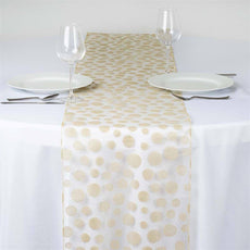 Groovy Dots Table Runner - Champagne