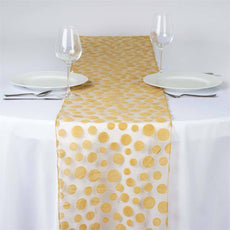 Groovy Dots Table Runner - Gold