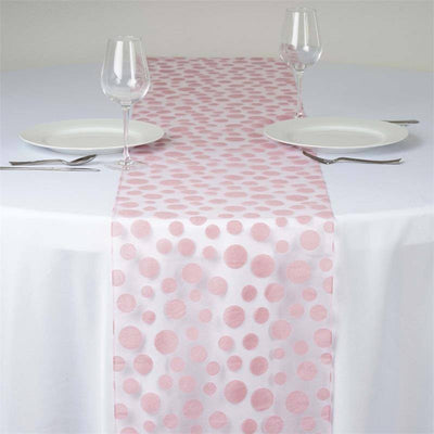 Groovy Dots Table Runner - Pink