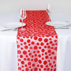 Groovy Dots Table Runner - Red