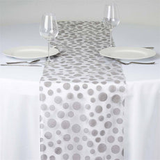 Groovy Dots Table Runner - Silver