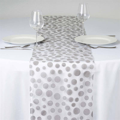 ... Groovy Dots Table Runner   Silver ...