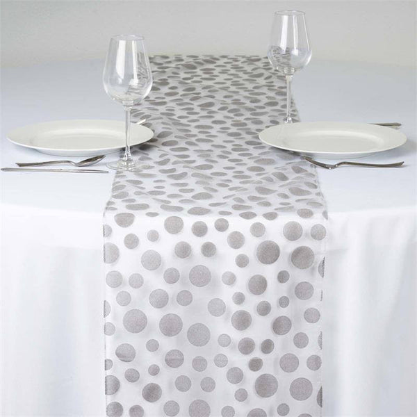 Groovy Dots Table Runner   Silver