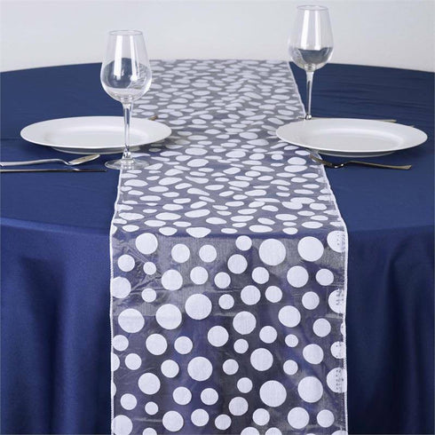 Groovy Dots Table Runner - White