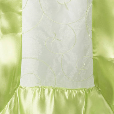 Apple Green Embroidered Table Runner