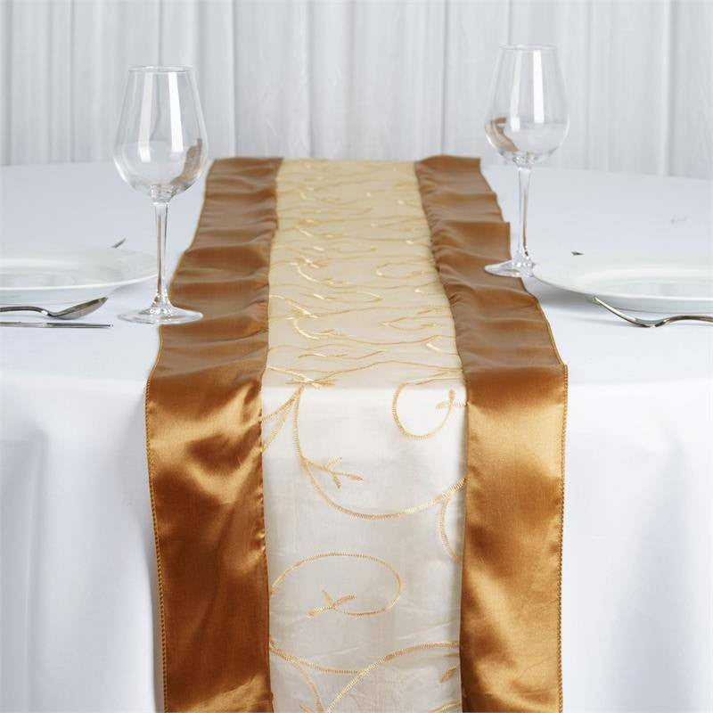 Gold Embroidered Table Runner