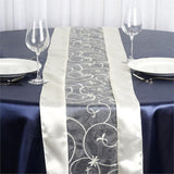 Ivory Embroidered Table Runner