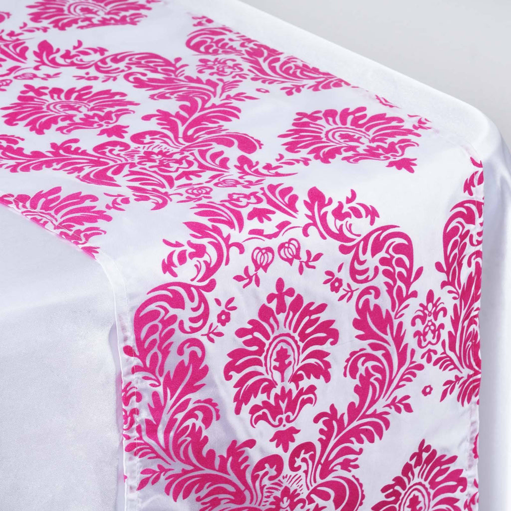 Fushia Flocking Table Runner