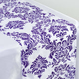 Purple Flocking Table Runner
