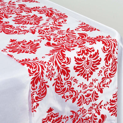 Red Flocking Table Runner