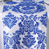 Royal Blue Flocking Table Runner