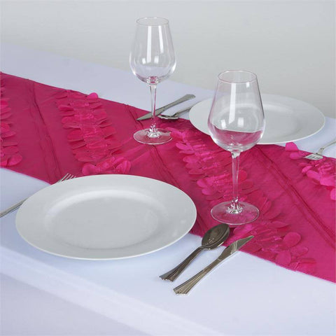 Paradise Forest Taffeta Table Runners - Fushia
