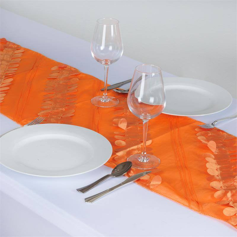 Paradise Forest Taffeta Table Runners - Orange
