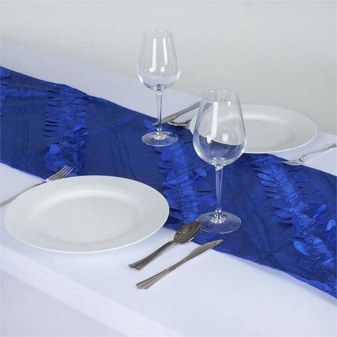 Paradise Forest Taffeta Table Runners - Royal Blue