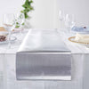Silver Glitter Paper Table Runner Roll, Disposable Table Runner with Diamond Pattern