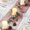 Glitter Paper Table Runner Roll, Disposable Table Runner with Geometric Diamond Design