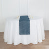 12x108 Blue Linen Table Runner, Slubby Textured Wrinkle Resistant Table Runner