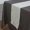 12x108 White Linen Table Runner, Slubby Textured Wrinkle Resistant Table Runner