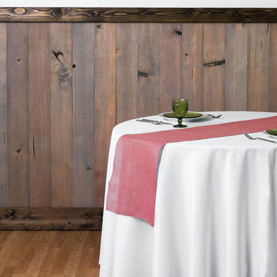 Rose Quartz Rustic Burlap Table Runner