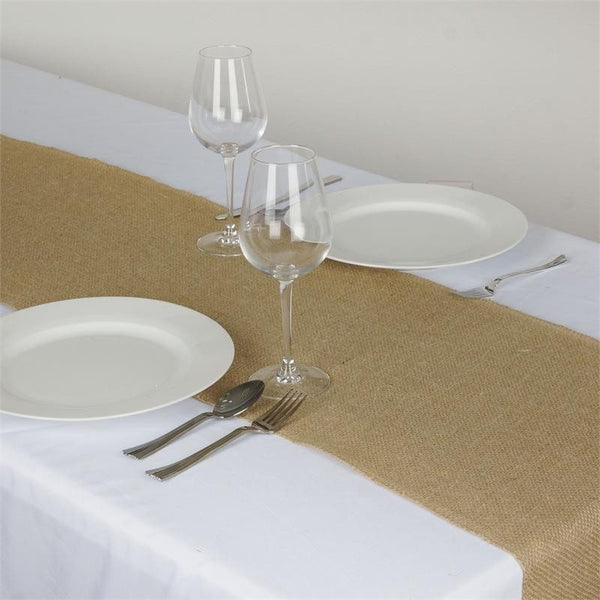 Wholesale Natural Rustic Burlap Table Runner For Wedding
