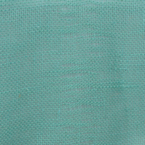 "14""x108"" Turquoise Rustic Burlap Table Runner"