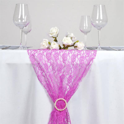 Floral Lace Table Runner - Fushia