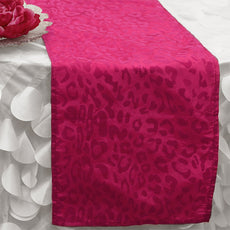 California Leopard Table Runner - Fushia / Fushia