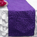 Monarch Leopard Table Runner - Purple / Purple