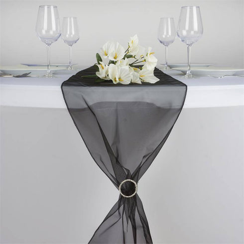 Black Organza Table Runner
