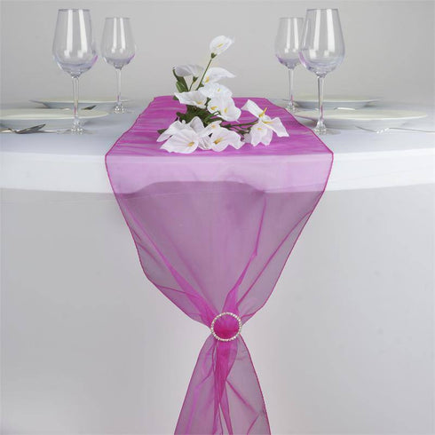 Fushia Organza Table Runner