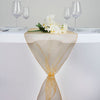 "14""x108"" Gold Organza Runner"