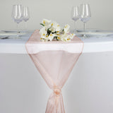 Mauve Organza Table Runner