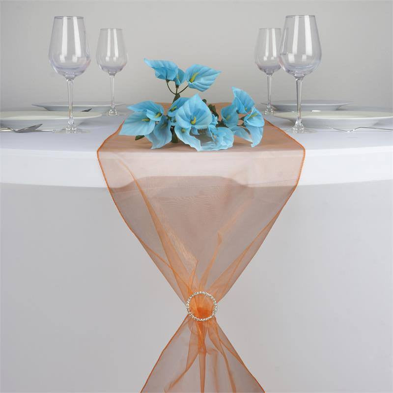 Orange Organza Table Runner