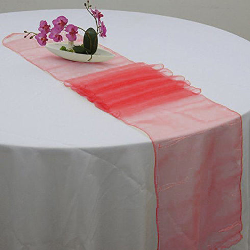 "14""x108"" Red Organza Runner"