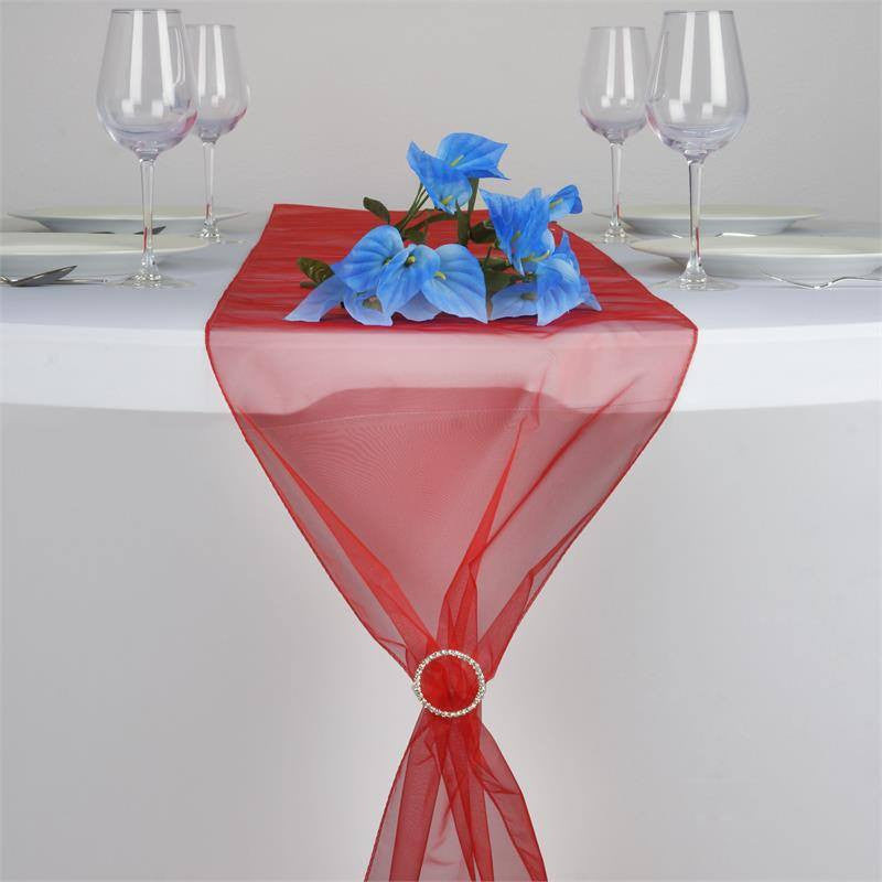 Red Organza Table Runner
