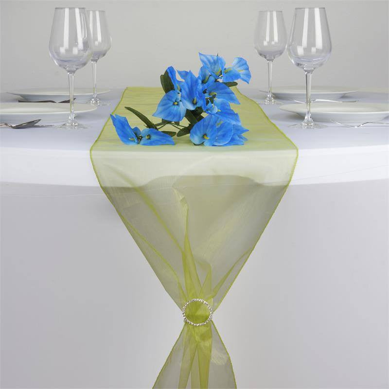 Sage Green Organza Table Runner