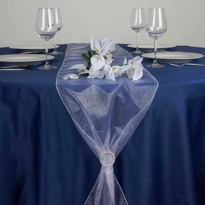 "14""x108"" White Organza Runner"