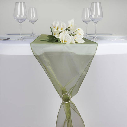 Organza Table Runner - Moss / Willow
