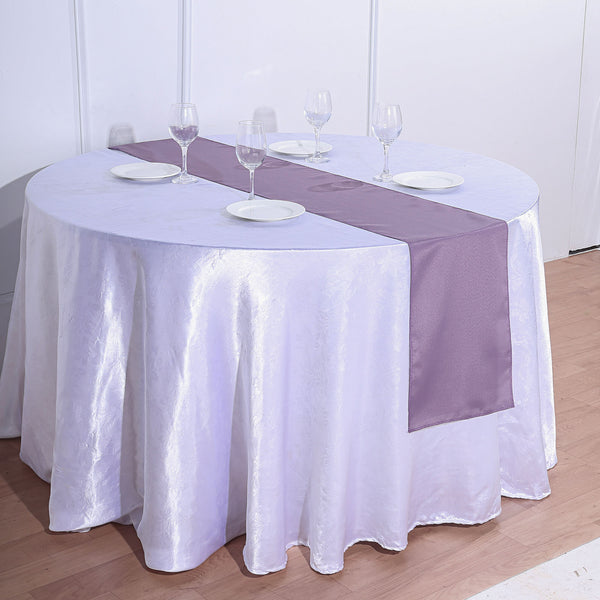 "12""x108"" Violet Amethyst Polyester Table Runner"