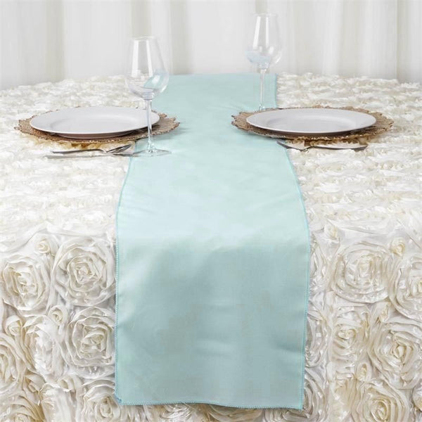 "12""x108"" Dusty Sage Polyester Table Runner"