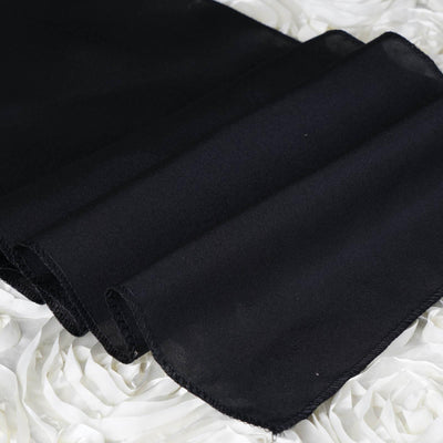 Ordinaire ... BLACK Polyester Runner   Table Top Wedding Catering Party Decorations  ...
