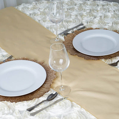CHAMPAGNE Polyester Runner - Table Top Wedding Catering Party Decorations
