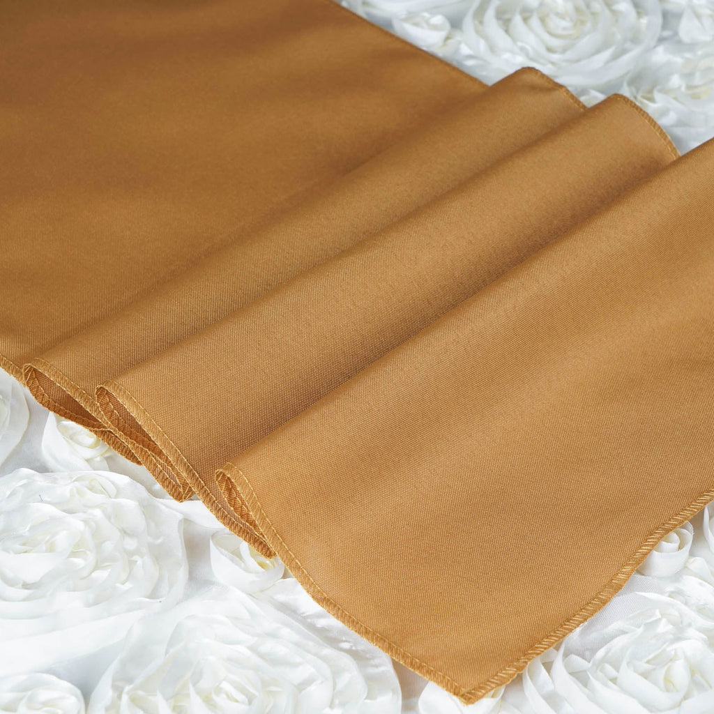 GOLD Polyester Runner - Table Top Wedding Catering Party Decorations