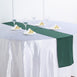 "12""x108"" Hunter Emerald Green Polyester Table Runner"